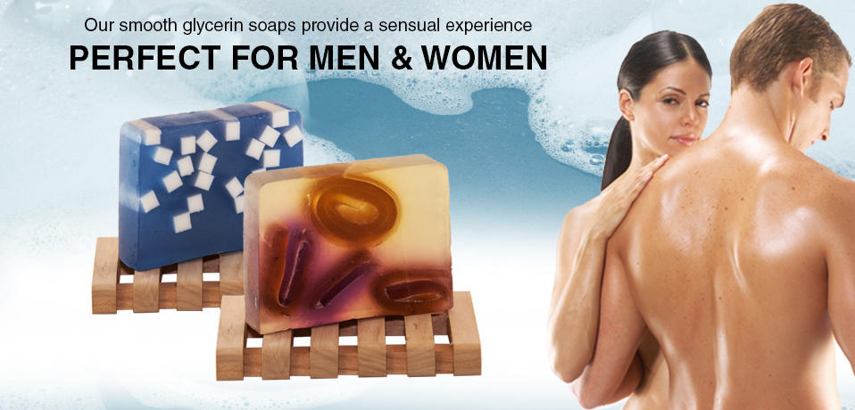 Our smooth glycerin soaps provide a sensual experience perfect for women and men